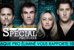Défiez des pros et partagez 15 000 euros sur PMU Poker !
