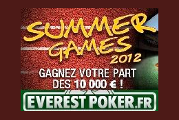 10 000 euros en jeu aux Summer Games 2012 d'Everest Poker